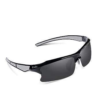 ee3cd8b305 EWIN E20 Gafas de Sol de Deporte Polarizadas, UV400 Protección, Gafas  Irrompibles (Negra y Gris): Amazon.es: Deportes y aire libre
