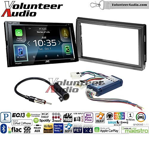 Volunteer Audio JVC KW-V830BT Double Din Radio Install Kit with Apple CarPlay and Android Auto Fits 2005-2006 Nissan Altima (with Bose)