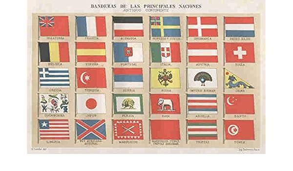BANDERAS DE LAS PRINCIPALES NACIONES. ANTIGUO CONTINENTE ...