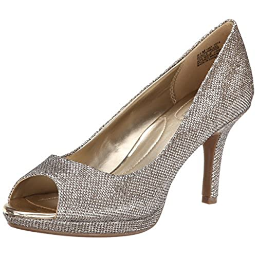 Bandolino Women's Supermodel Fabric Dress Pump, Gold, 8 M US