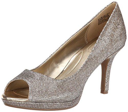 Bandolino Women's Supermodel Synthetic Dress Pump - Gold ...