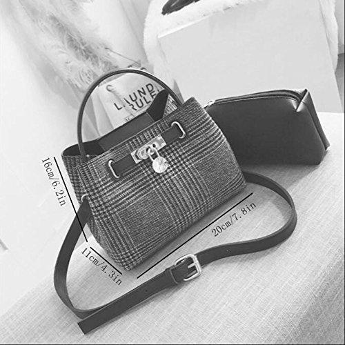 De Embrague Moda Checkered Mujer Mujeres Bolso Multifunción Las Bolsas Compras Bolsos Mano Mensajero Cuero Bandolera Hombro dwnUqpa