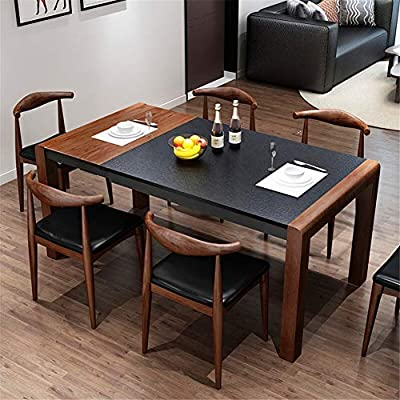 Amazon.com: WSNDDL Mesa de comedor retráctil estilo nórdico ...
