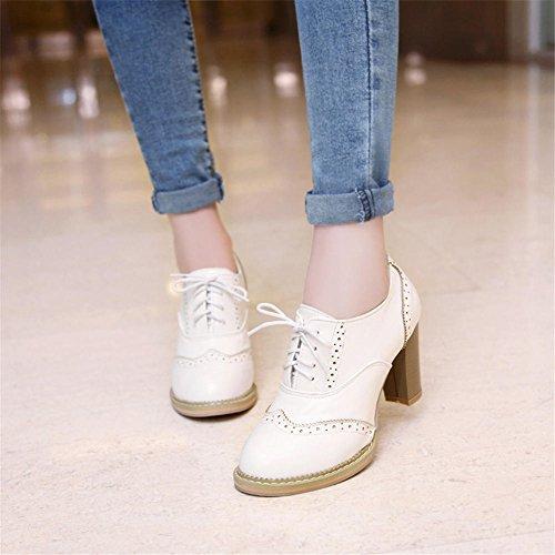 Zapatos White 4 de Vestir DoraTasia para Mujer vqfPvwd