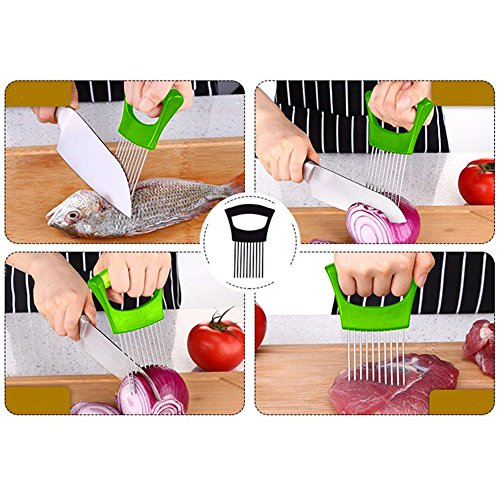 Sunnycows Kitchen Tools Set, 3-in-1 Avocado Slicer,Avocado Saver and Silicone Food Storage Holder,Free Gift Vegetable Slicer Not Just for Onion by Sunnycows (Image #5)
