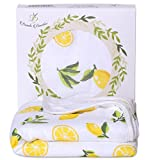 Bambi Bamboo Hooded Baby Bath Towel – Luxury Spa Super Soft for Sensitive Skin – Lemon, 2 Layers, Reversible – Absorbent, Keep Dry&Warm-Antibacterial,Hypoallergenic-Perfect Shower Registry Gift Review