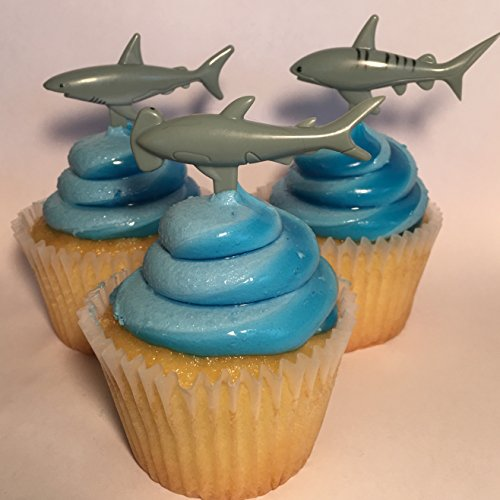 Price comparison product image MarBev Shark Cupcake Toppers 24pc
