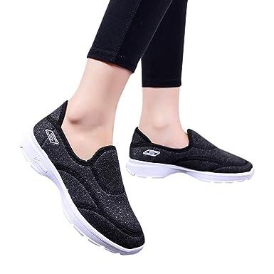 24beea6b107cc Amazon.com: Women Walking Loafers Sneakers Girl Casual Breathable ...