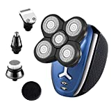 Vsmooth Electric Razor for Men Head Shaver for Bald Men 5 in 1 Grooming Kit Hair Clippers Nose Hair Trimmer Beard Trimmer Cordless Waterproof USB Rechargeable Electric Shaver