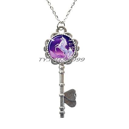 d70fa79b80f1 Amazon.com   Unicorn Key Necklace