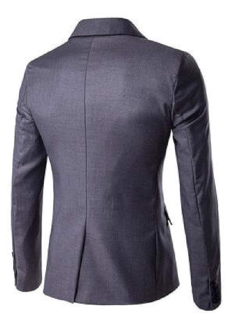 KLJR Men Slim Solid Color Casual Business One Button Classic Dress Blazer Jacket Sport Coat