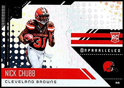 2018 Unparalleled NFL  216 Nick Chubb RC Rookie Cleveland Browns Rookie  Panini Football Trading Card f7c6a064c