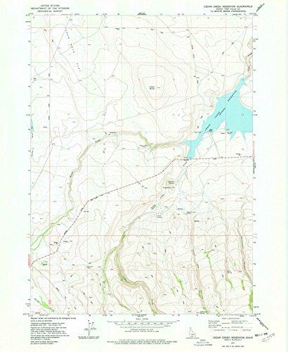 Idaho Maps | 1977 Cedar Creek Reservoir, ID USGS Historical Topographic Map |Fine Art Cartography Reproduction ()