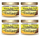 SALCOLL COLLAGEN Marine Collagen - Salmon Collagen for Joint Pain, Rheumatoid Arthritis, Osteoporosis - Aids Tissue, Cartilage & Bone Regeneration to Improve Energy, Mobility & Vitality - 4 x 1.23 Oz