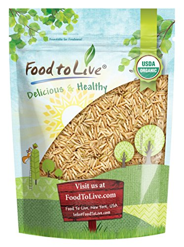 Organic Brown Basmati Rice Food to Live (Raw, Long Grain, Non-GMO, Kosher, Bulk) — 1 Pound