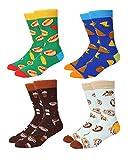 Men's Novelty Socks, Happypop Food Patterned Funny Crazy Cotton Colorful Dress Crew Socks