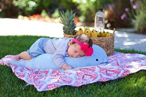 Blow the Blue Beluga Whale Plush Large Stuffed Animal Shark for Children 2 Feet Long by Buddy Plush by Buddy Plush