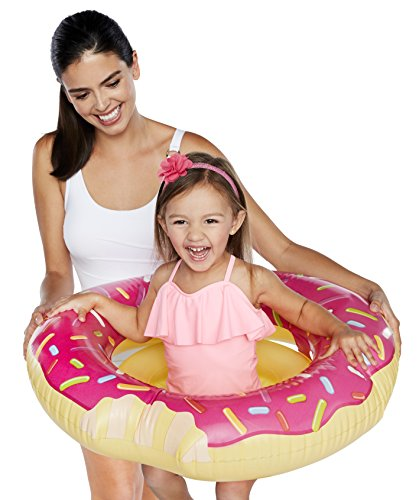 BigMouth Inc Sprinkles of Fun Pink Donut Lil' Water Float - Pool Float for Infants and Kids Ages 1-3, Perfect for Beginner Swimmers, Easy to Inflate and Durable by BigMouth Inc