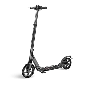 Patinete Frenos de Disco Scooter Plegable para Adultos, 3 Niveles, Altura Ajustable, 2