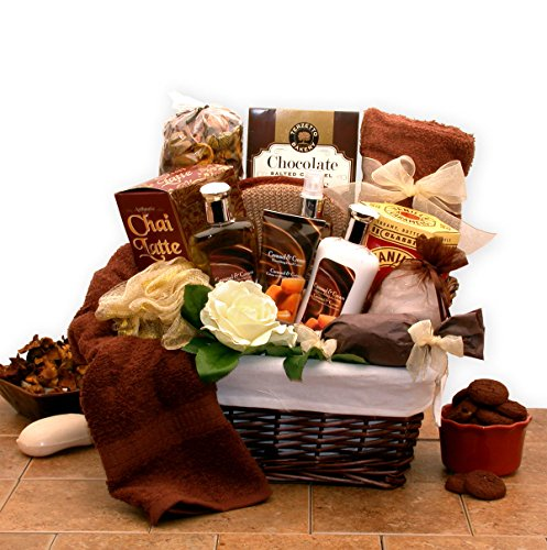 Extravagance Gift Basket - Mothers Day Gift Caramel Extravagance Bath & Body Mothers Day Spa Gift Basket