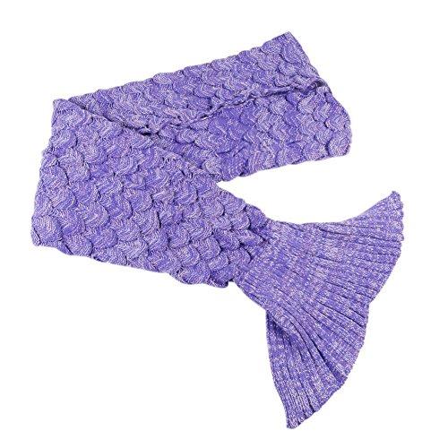 Mermaid Tail Blanket Crochet and Mermaid Blanket for Adult Teens, Super Soft All Seasons Sleeping Blankets