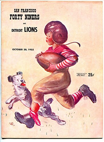 San Francisco 49ers VS Green Bay Packers-NFL Program 10/30/1955-Kezar Stadium-VF (Green Bay Packers Vs San Francisco 49ers)