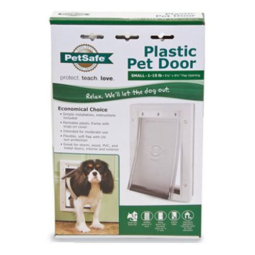 PetSafe Plastic Pet Door with Soft Tinted Flap, White, Small (Cat Door For Door compare prices)