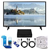 LG 32LJ500B LJ500B Series 32'' Class LED HDTV (2017 Model) Plus Terk Cut-the-Cord HD Digital TV Tuner and Recorder 16GB Hook-Up Bundle