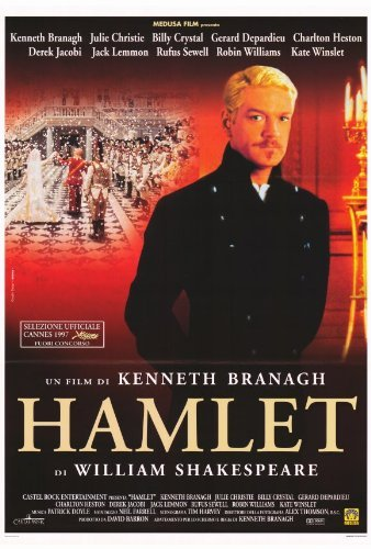 Hamlet Movie Poster (27 x 40 Inches - 69cm x 102cm) (1996) Style B -(Kenneth Branagh)(Kate Winslet)(Julie Christie)(Derek Jacobi)(Richard Briers)(Brian Blessed) by MG -