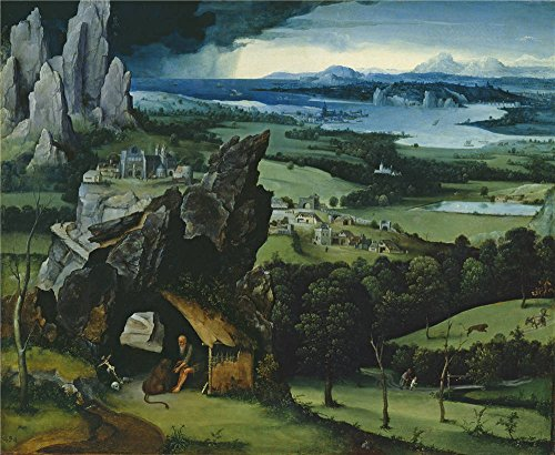 Oil Painting 'Patenier Joachim Landscape With Saint Jerome 1515 19 ' Printing On Perfect Effect Canvas , 20 X 24 Inch / 51 X 62 Cm ,the Best Game Room Decoration And Home Decoration And Gifts Is This Amazing Art Decorative Canvas Prints