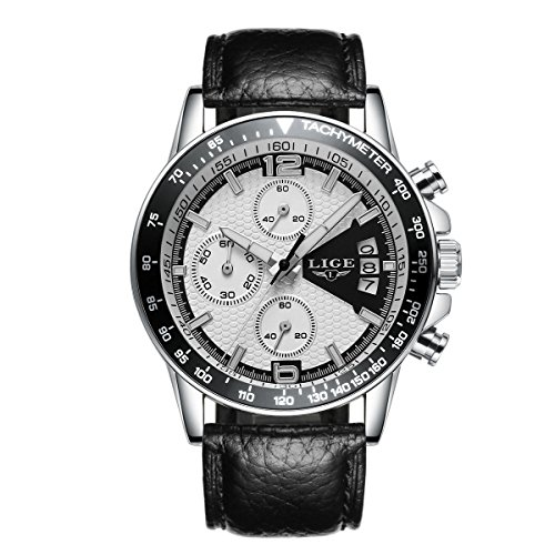 Quartz-Chronograph-Waterproof-Watches-Business-And-Sport-Design-Leather-Band-Strap-Wrist-Watch