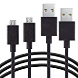 2 Pack USB Charger Cable for Fire Tablets Kindle eReaders, Fire HD 8 HD 10, Kindle Paperwhite Voyage Oasis