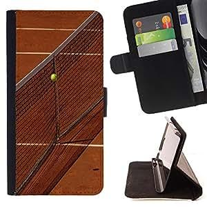 Dragon Case- Caja de la carpeta del caso en folio de cuero del tir¨®n de la cubierta protectora Shell FOR HTC Desire 820 D820 d820t- Tennis Ball Ace