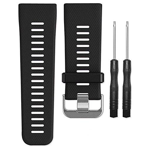 Band for Garmin Vivoactive HR Watch, Soft Silicone Wristband Replacement Watch Band for Garmin Vivoactive HR (Black)