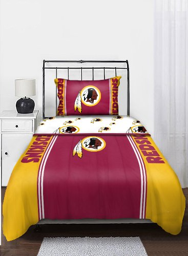 The Northwest Company NFL Washington Redskins Bedding Set, (Washington Redskins Bed Set)
