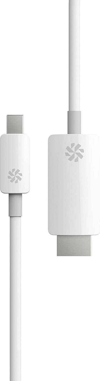 White Ultra HD 4K Resolution 6.6 Feet 2 Meter Kanex Mini DisplayPort//Thunderbolt to HDMI Cable with Audio