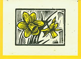 product image for Grow A Note® Woodcut Daffodil Letterpress Cards 4-pack
