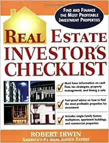 Real estate investor 39 s checklist by irwin robert mcgraw for Mcgraw hill real estate
