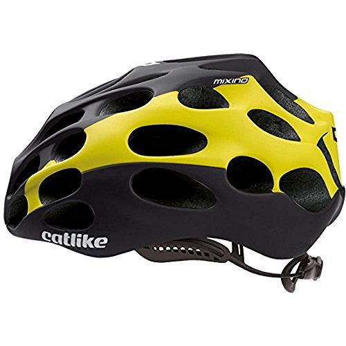 CATLIKE Mixino SV Bike Helmet, Black/Yellow, Small