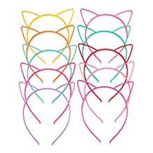 Happy Hours - 10 Pcs Sweet Cute Cat's Ear Children Headband Set / Korean Style Resin Baby Hair Accessories / Clever Colorful Girls Hair Clasp / Nice Children's Day Gift,Decoration(10 Pcs)