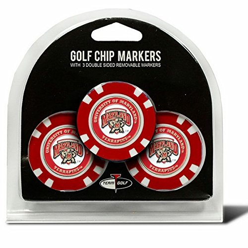 Set of 3 University of Maryland Chips with removable Golf Ball Markers