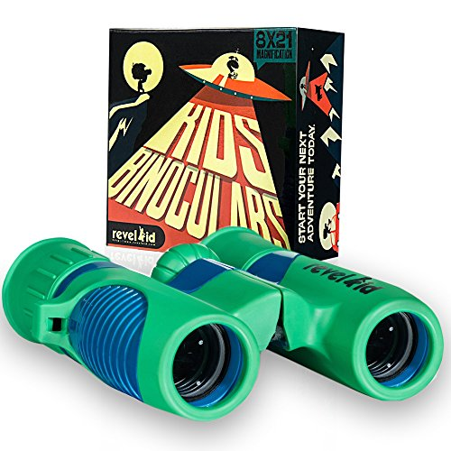 - Binoculars For Kids - 8x21 Magnification - Shockproof and Compact Spotting Scope - High Resolution Optics - Best Educational Tool for Travel, Birdwatching, Camping, Star gazing, Science, Hunting