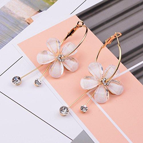 usongs France bright garden forest department retro gem ladybug earrings green and white flowers