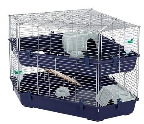 Massive negro Metal esquina jaula para conejos y cobayas: Amazon ...