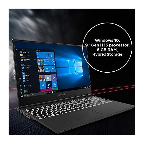 Lenovo Legion Y540 9th Gen Intel Core i5 15.6-inch (39.62 cms) Full HD Gaming Laptop (8GB/512GB SSD/Windows 10/60 Hz/NVIDIA GTX 1650 4GB GDDR5 Graphics/Raven Black/2.3Kg), 81SY00UCIN