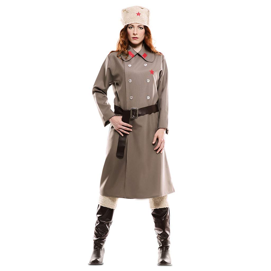 EUROCARNAVALES Disfraz de Rusa Gris para Mujer: Amazon.es ...