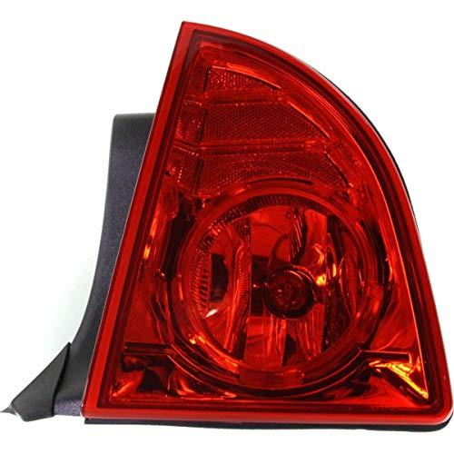 - Tail Light for 2008-2012 Chevrolet Malibu RH Outer Quarter Panel Mounted