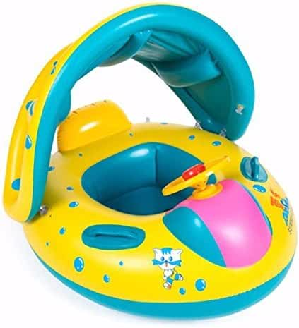 Baby Pool Float with Canopy 3 months - 3 Years Foot-hole 4 Espeically for Infant by Summer Sea