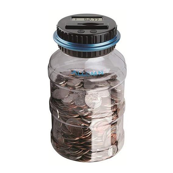 ALLOMN Geld sparen Box Münze Zählwerk Münze Bank Digitale Münze Zählen Sparbüchse LCD Display Große Kapazität Kinder Geschenk