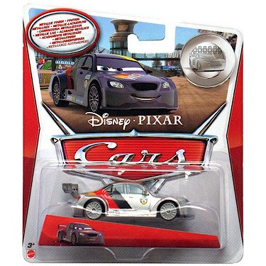 Disney Pixar Cars - 1:55 Scale Diecast Silver Racer Series - MAX SCHNELL Silver Racer Series